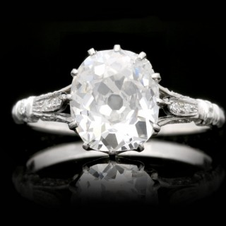 Art Deco old mine diamond solitaire ring, circa 1920.