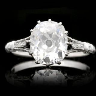 Art Deco old mine diamond solitaire ring, circa 1920.