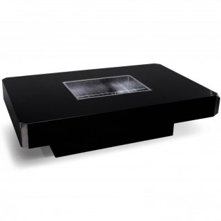 A Black Lacquer  Low Table In The Manner Of Willy Rizzo