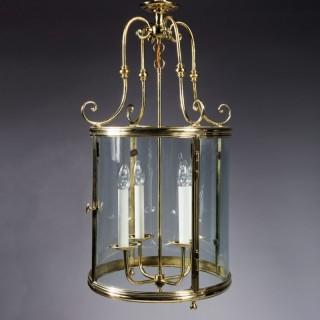 A Large Scale Circular Brass Lantern