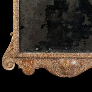A Queen Anne Gesso Mirror