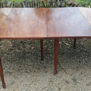 18th Century George III Period Mahogany Antique D Ended Dining Table / Console Tables