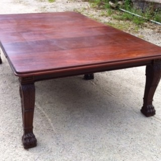 Large Early 19th Century Regency Mahogany Extending Dining Table