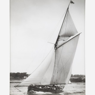 Early silver gelatin photographic print by Beken of Cowes - Royal Yacht Squadron Yacht Lassie