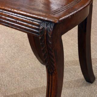 William IV mahogany hall chair