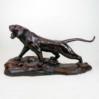Bronze tiger 3/4 life size