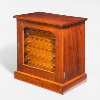 Collectors cabinet, Victorian 6 drawer table top