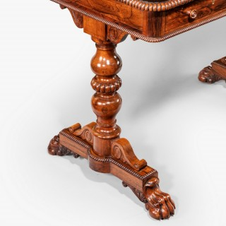 Regency specimen marble top table