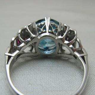 Zircon, Diamond and Ruby Ring.