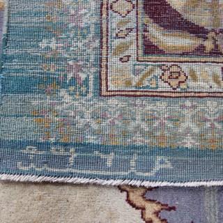 Antique Agra carpet, dated 1867