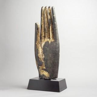 GILT BRONZE HAND OF BUDDHA