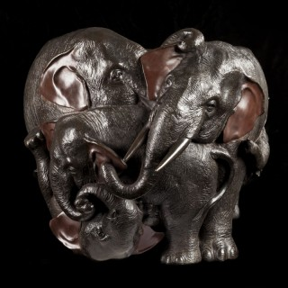 JAPANESE ELEPHANT JARDINIERE