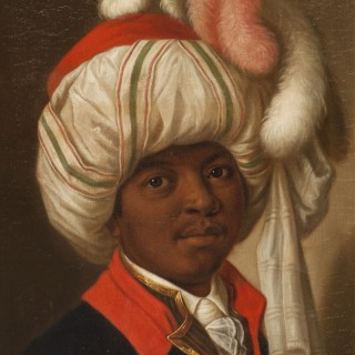 PORTRAIT OF A YOUNG MAN WEARING A TURBAN