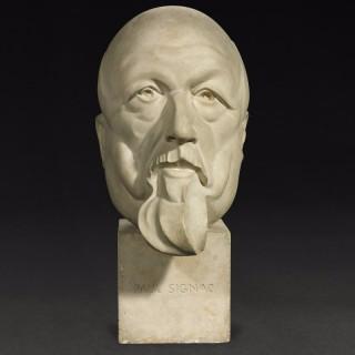 Monumental Art Deco Plaster Bust of Paul Signac