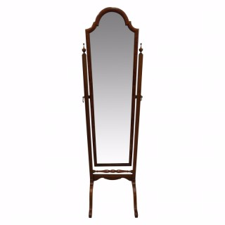 Walnut Framed Cheval Mirror