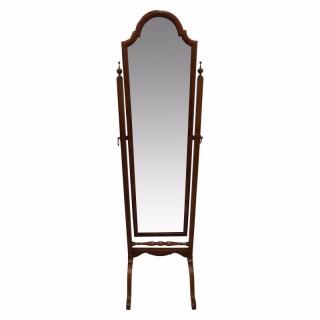 Walnut Framed Cheval Mirror