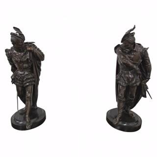 Pair of Bronze Gentlemen