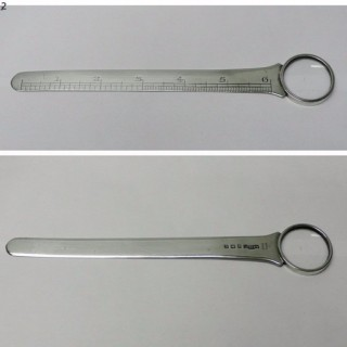 Antique Silver Letter Opener and Magnifier