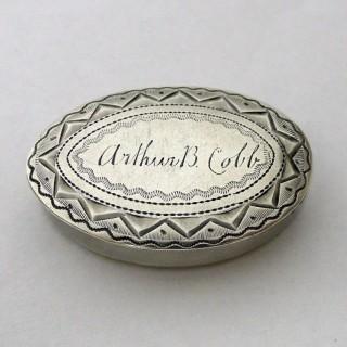 George III Silver Pill Box