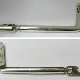 Vintage Silver Corkscrew and Bottle Opener – Golf Putter