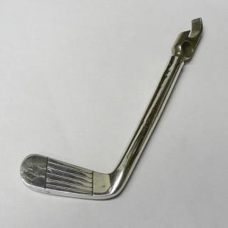 Vintage Silver Corkscrew and Bottle Opener – Golf Putter