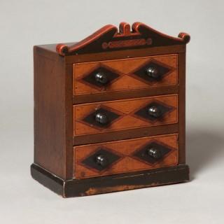 Miniature Folk Art chest