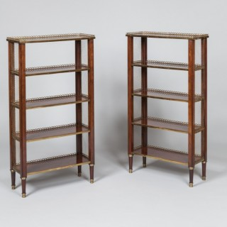 Pair of Petit Bibliotheques or Bookcases in the Manner of Adam Weisweiler