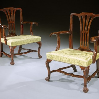 A Pair of Irish Armchairs