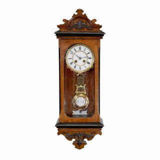 Antique French small striking wall clock