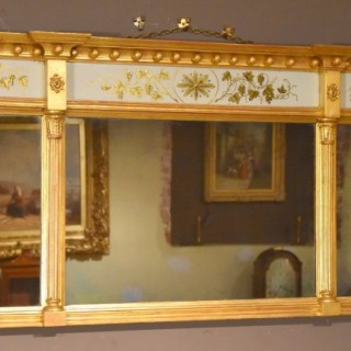 Late Regency Three Plate Over Mantel Mirror