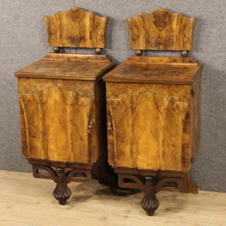 20th Century Pair Of Italian Bedside Tables In Art Deco Style
