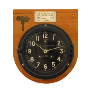 1940s U.S. Maritime Commission Chelsea Ships Bell Clock