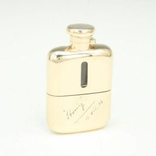 9ct Gold Hip Flask
