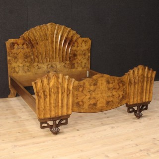 20th Century Italian Bed In Art Deco Style