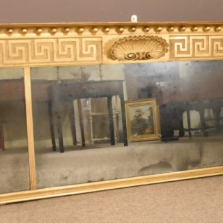 Late Regency Giltwood and Gesso Overmantle Mirror