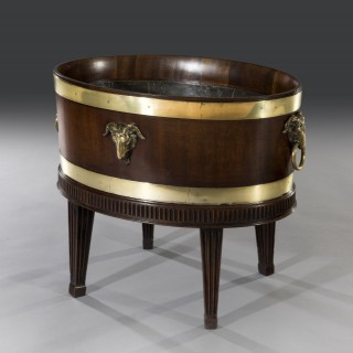 George III 18th Century Mahogany Adam Period Oval-Shaped Open Wine Cooler