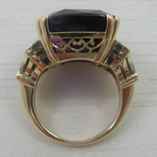Vintage Amethyst and Diamond Ring.