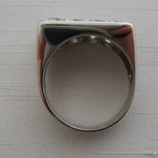 Vintage Abstract Diamond Panel Ring.