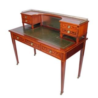 Edwardian Inlaid Mahogany Writing Table
