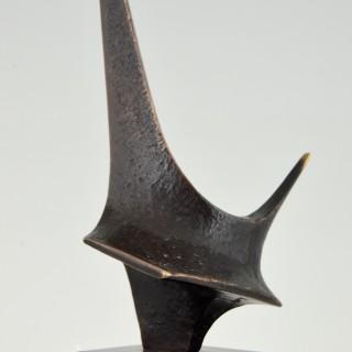 Abstract bronze sculpture, 1973