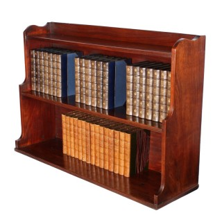 Regency Stepped Mahogany Bookshelves