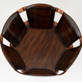 French Art Deco paper basket for the desk