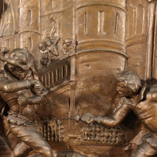20th Century Dutch High-Relief In Metal
