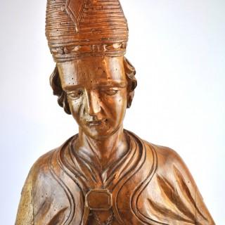 Carved Limewood Bishop