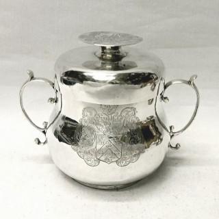 Antique Charles II Silver Porringer and Lid