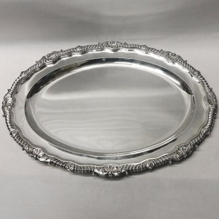 George III Silver Serving Platter by Paul Storr