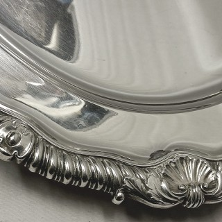 George III Silver Serving Platter by Paul Storr