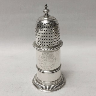 Antique Queen Anne Silver Sugar Caster