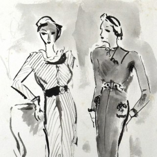 ELINOR BELLINGHAM-SMITH (1906-1988) - TWO ELEGANT MODELS