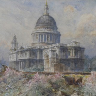 HENRY CHARLES BREWER (1866-1950) - ST PAUL'S